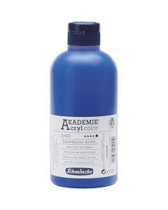 Schmincke AKADEMIE® Acrylfarbe, Deckend, Kobaltblauton dunkel (443), 500 ml/ 1 Fl.