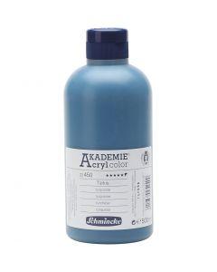 Schmincke AKADEMIE® Acrylfarbe, Halbtransparent, Türkis (450), 500 ml/ 1 Fl.