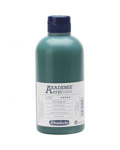Schmincke AKADEMIE® Acrylfarbe, Transparent, Phthalogrün (551), 500 ml/ 1 Fl.