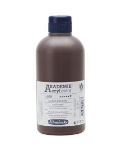 Schmincke AKADEMIE® Acrylfarbe, Deckend, Umbra gebrannt (669), 500 ml/ 1 Fl.