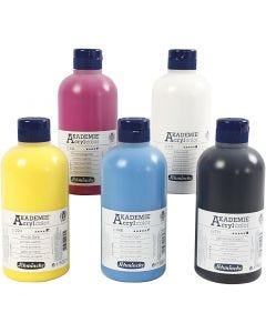 Schmincke AKADEMIE® Acrylfarbe, 5x500 ml/ 1 Pck.