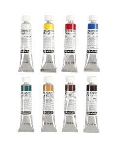 Schmincke AKADEMIE® Acrylfarbe, 8x20 ml/ 1 Pck.