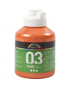 A-Color Acrylfarbe, Nr. 03, Metallisch , Orange, 500 ml/ 1 Fl.
