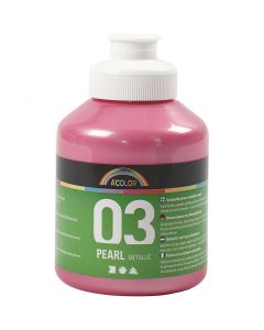 A-Color Acrylfarbe, Nr. 03, Metallisch , Rosa, 500 ml/ 1 Fl.