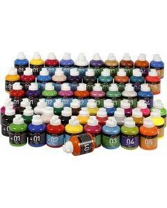 A-Color Acrylfarbe, Sortierte Farben, 57x500 ml/ 1 Pck.