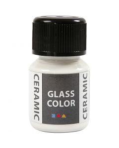 Glas/Keramik-Farbe, Weiß, 35 ml/ 1 Fl.