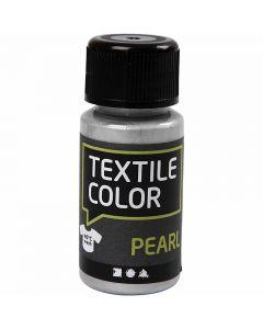 Textilfarbe, Perlmutt, Silber, 50 ml/ 1 Fl.