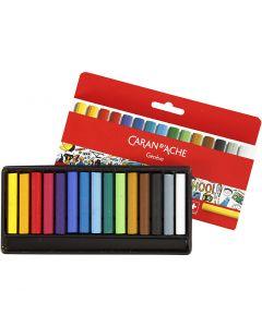 Neocolor I - Ölkreide, L: 5 cm, Stärke: 8 mm, Sortierte Farben, 15 Stck./ 1 Pck.