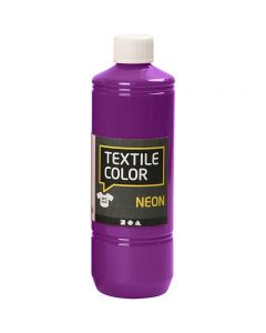 Textilfarbe, Neonlila, 500 ml/ 1 Fl.