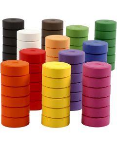 Wasserfarben im Set, H: 16 mm, D: 44 mm, Nachfüllblock, 72 Stck./ 1 Pck.