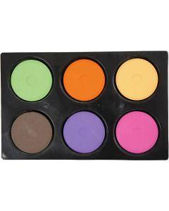 Wasserfarben im Set, H: 16 mm, D: 44 mm, Zusätzliche Farben, 1 Set