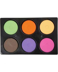 Wasserfarben im Set, H: 19 mm, D: 57 mm, Zusätzliche Farben, 1 Set