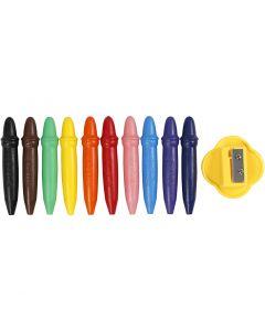 Wachsstifte, L: 7 cm, D: 11 mm, 10 Stck./ 1 Pck.