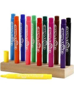 Colortime Filzstifte, Strichstärke 5 mm, Sortierte Farben, 12 Stck./ 1 Pck.