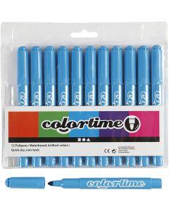 Colortime Filzstifte, Strichstärke 5 mm, Hellblau, 12 Stck./ 1 Pck.