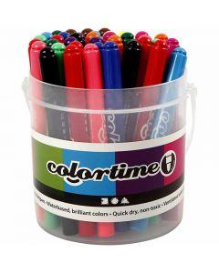 Colortime Filzstifte, Strichstärke 5 mm, Sortierte Farben, 42 Stck./ 1 Pck.
