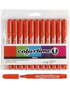 Colortime Filzstifte, Strichstärke 5 mm, Dunkelorange, 12 Stck./ 1 Pck.