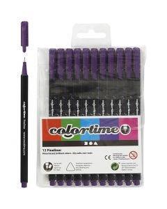 Colortime Fineliner, Strichstärke 0,6-0,7 mm, Flieder, 12 Stck./ 1 Pck.
