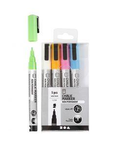 Kreide-Marker, Strichstärke 1,2-3 mm, Kräftige Farben, 5 Stck./ 1 Pck.