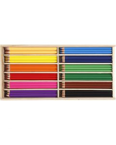 Buntstifte, Mine 3 mm, Sortierte Farben, 144 Stck./ 1 Pck.