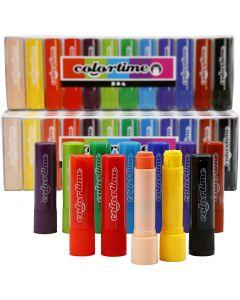 Soft Color Stick, L: 8 cm, Sortierte Farben, 120 Stck./ 1 Pck., 6,5 g