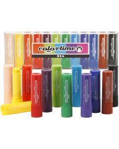 Soft Color Stick, L: 8 cm, Sortierte Farben, 12 Stck./ 1 Pck.
