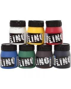 Linoldruckfarbe, Sortierte Farben, 7x250 ml/ 1 Pck.