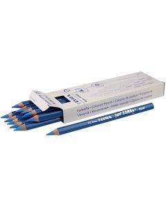 Super Ferby 1 Buntstifte, L: 18 cm, Mine 6.25 mm, Blau, 12 Stck./ 1 Pck.