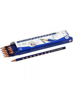 Groove Bleistift, D: 7,2 mm, Stärke HB, Mine 3,3 mm, 12 Stck./ 1 Pck.