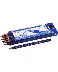Groove Bleistift, D: 10 mm, Stärke B, Mine 4,25 mm, 12 Stck./ 1 Pck.