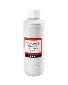 Découpage-Lack, Glitter, Gold, 250 ml/ 1 Fl.