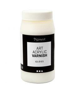 Art Acrylic Varnish, Matt, Glänzend transparent, Weiß, 500 ml/ 1 Dose