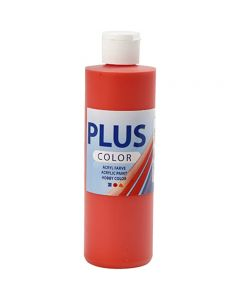 Plus Color Bastelfarbe, Brillantrot, 250 ml/ 1 Fl.