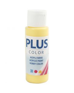Plus Color Bastelfarbe, Primelgelb, 60 ml/ 1 Fl.