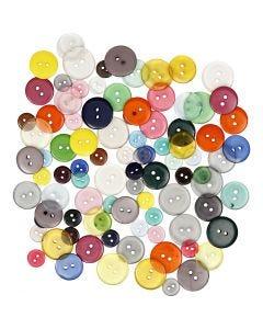 Knopf-Mix - Sortiment, Sortierte Farben, 100 Stck./ 1 Pck.