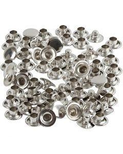 Nieten, D: 7 mm, Silber, 50 Stck./ 1 Pck.