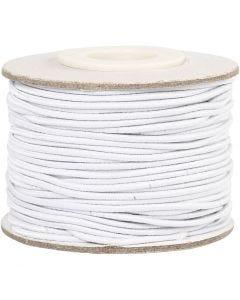 Elastikschnur, Stärke: 1 mm, Weiß, 25 m/ 1 Rolle