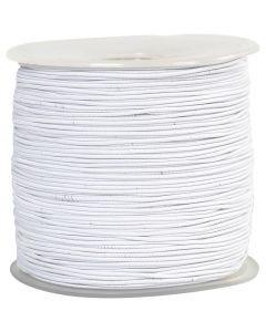 Elastikschnur, Stärke: 1 mm, Weiß, 250 m/ 1 Rolle
