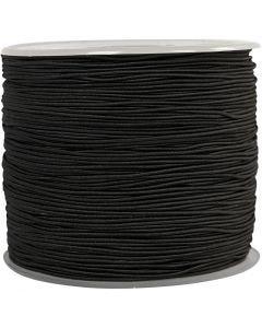 Elastikschnur, Stärke: 1 mm, Schwarz, 250 m/ 1 Rolle