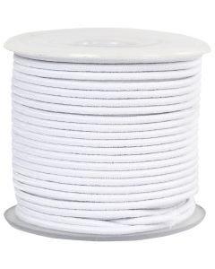 Elastikschnur, Stärke: 2 mm, Weiß, 25 m/ 1 Rolle
