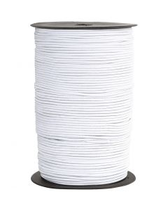 Elastikschnur, Stärke: 2 mm, Weiß, 250 m/ 1 Rolle