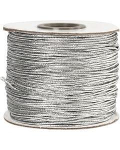 Elastikband, Stärke: 1 mm, Silber, 100 m/ 1 Rolle