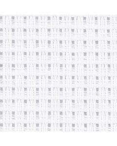 Aida-Stoff, Größe 50x50 cm, 24 Kästchen pro 10 cm, Weiß, 1 Stck.