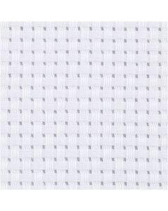 Aida-Stoff, Größe 50x50 cm, 35 Kästchen pro 10 cm, Weiß, 1 Stck.