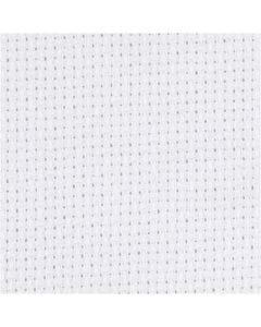 Aida-Stoff, Größe 50x50 cm, 70 Kästchen pro 10 cm, Weiß, 1 Stck.