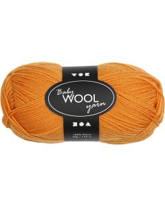 Babygarn, L: 172 m, Orange, 50 g/ 1 Knäuel