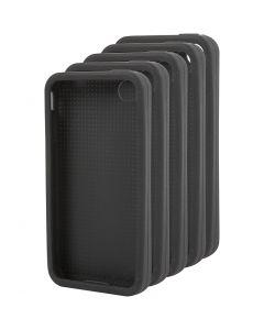 iPhone-Cover zum Besticken, Nr. 4/4S, Größe 11,8x2,4 cm, Schwarz, 15 Stck./ 1 Pck.