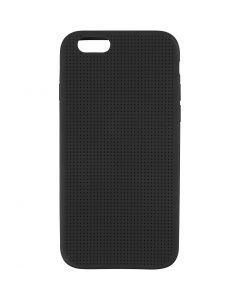 iPhone-Cover zum Besticken, Nr. 6/6S, Größe 6,8x13,8 cm, Schwarz, 1 Stck.