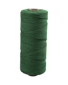 Baumwollkordel - Sortiment, L: 315 m, Stärke: 1 mm, Dünne Qualität 12/12, Grün, 220 g/ 1 Knäuel