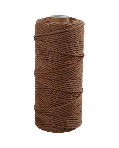 Baumwollkordel - Sortiment, L: 100 m, Stärke: 2 mm, Dicke Qualität 12/36, Braun, 225 g/ 1 Knäuel